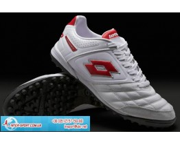 Lotto Stadio Potenza II 300 TF Boots - Wht/Red