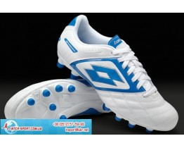 Lotto Stadio Potenza II 700 FG Boots - White/Blue