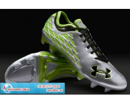 Under Armour 10K Force Pro II FG Boots - Silv/Grn