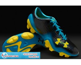 Under Armour Blur II FG Boots - Black/Blue/Sun